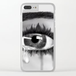 Crying Clear iPhone Case