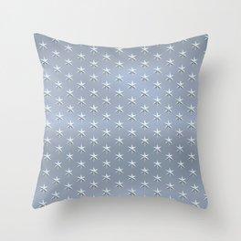 elegant silver star pattern Throw Pillow