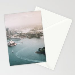 Sydney Opera House Harbour Bridge | Australia Aerial Travel Photography Stationery Cards
