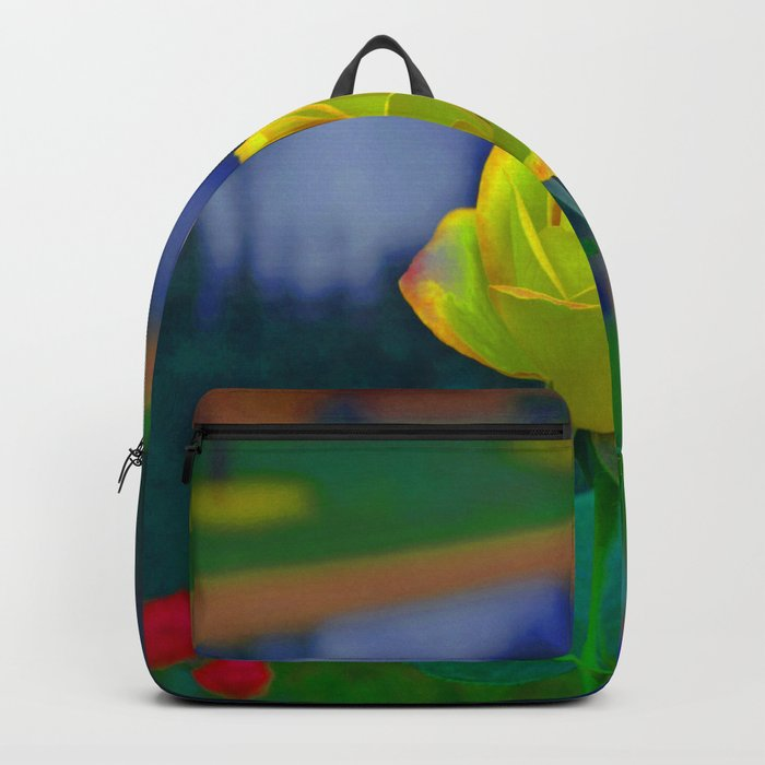Yellow Colorful Rose Backpack