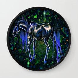 Blue Love Horse Wall Clock