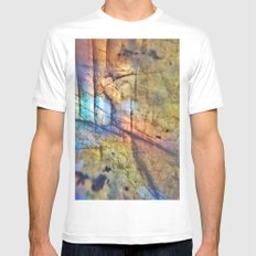 Labradorite Macro MEDIUM White Mens Fitted Tee
