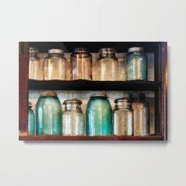 Canning jars in Spindletop-Gladys Metal Print
