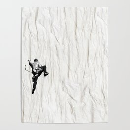 Climbing a Wrinkle Poster