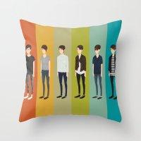 tegan and sara Throw Pillows featuring Tegan and Sara: Sara collection by Cas.