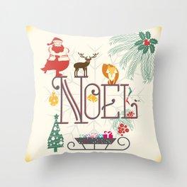 Christmas Noel Throw Pillow
