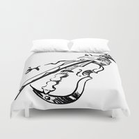 violin Duvet Covers featuring Violin by Azure Cricket