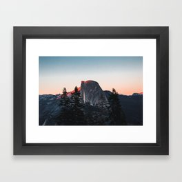 Last Light at Yosemite National Park Framed Art Print