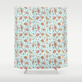 The Seashell Children Shower Curtain
