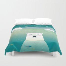 Happy Polar Bear Duvet Cover