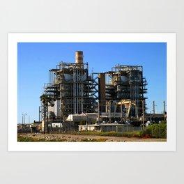 Natural Gas Power Plant Art Print