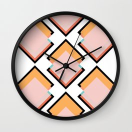 Spring Tiles Wall Clock