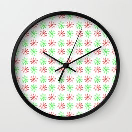 Arrows 1 - green and red Wall Clock