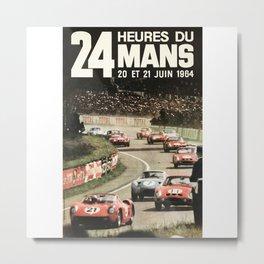 Le Mans poster, 1964, 24hs Le Mans, original vintage poster Metal Print