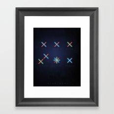 SMOOTH MINIMALISM - Star wars Framed Art Print