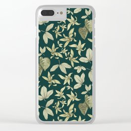 just a few leaves Clear iPhone Case