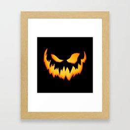 Evil Pumpkin Framed Art Print