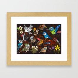CA 12 BIRDS (CA鳥風月) Framed Art Print