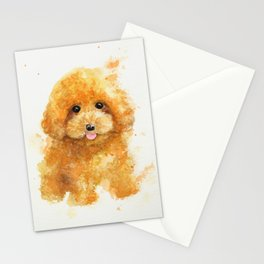 Poodle puppy Stationery Cards