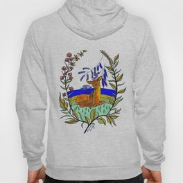Doe And Fawn In Wildflowers Hoody
