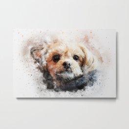 Dog animal pet art abstract Metal Print