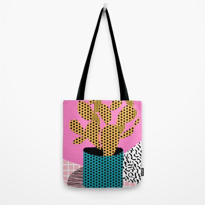 Ace - 80's throwback retro vintage hipster texture vinyl record 1980's 90's cool memphis bright fun Tote Bag