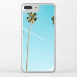 Palm Tree Sunshine Clear iPhone Case
