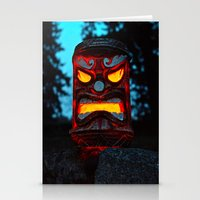 returns Stationery Cards featuring Tiki returns by Vorona Photography