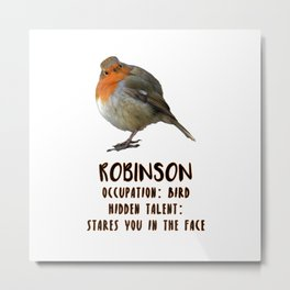 Robinson / Occupation: Bird / Hidden Talent: Stares You In The Face Metal Print