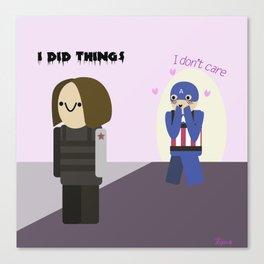 Team Cap summarised Canvas Print