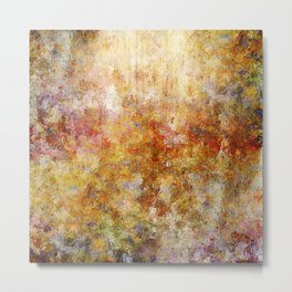 Mod Nature Trail Multicolor Pattern Metal Print