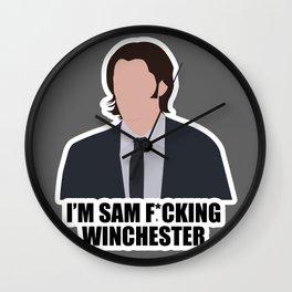Sam F*cking Winchester Wall Clock