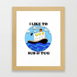 Rub N Tugboat- BEAR2 Framed Art Print