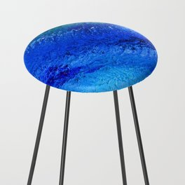 """""""Riptide #4"""" Oil Painting Counter Stool"""