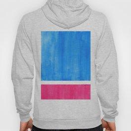 Baby Blue Pastel Pink Minimalist Mid Century Modern Rothko Color Field Geometric Square Shapes Hoody