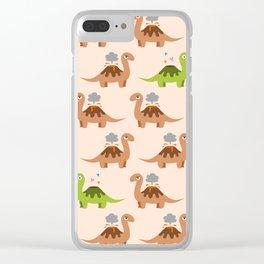 Volcanosaurus Clear iPhone Case