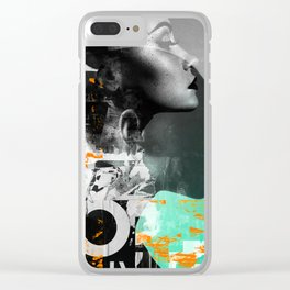 Life in Life Collage Clear iPhone Case