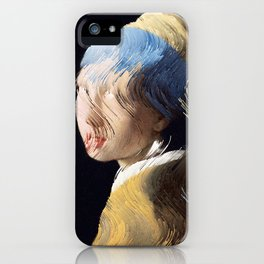 Girl With a Sorted Earring iPhone Case