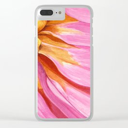 Watercolor Cosmos Clear iPhone Case