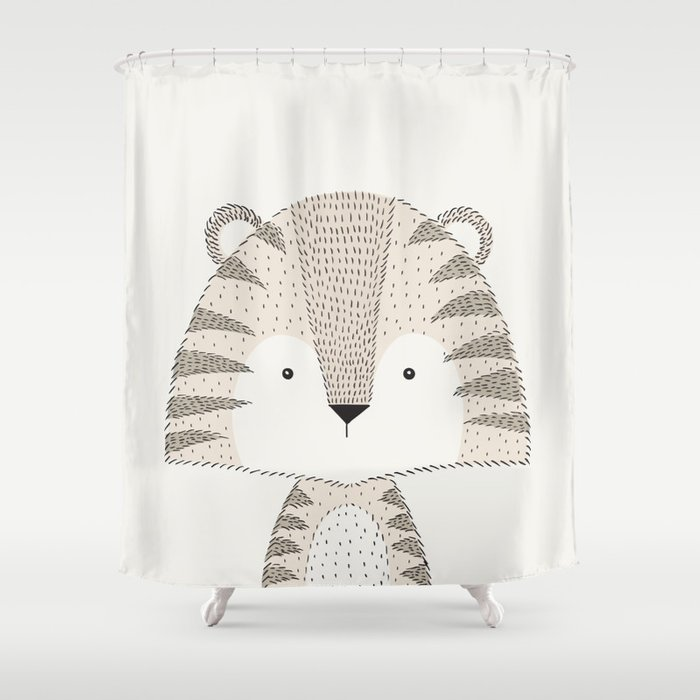 Tiger Baby Safari Animals Nursery Shower Curtain