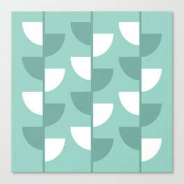Pastel Green Slices in The Summer Shade Canvas Print