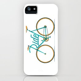 Ride Typo-Bike iPhone Case