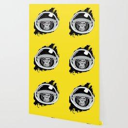 Space Monkey Yellow Wallpaper