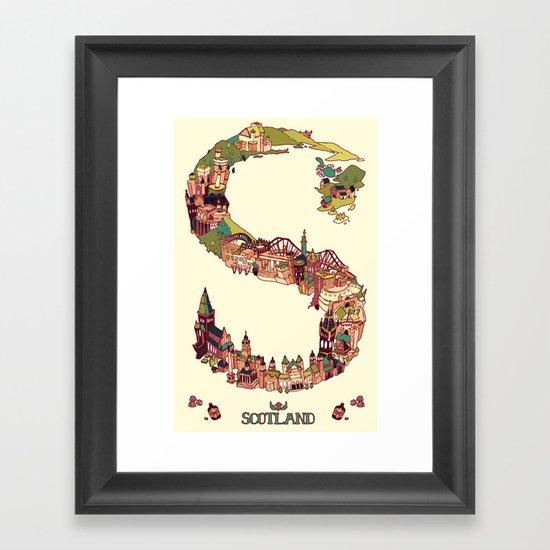 S is for Scotland Framed Art Print