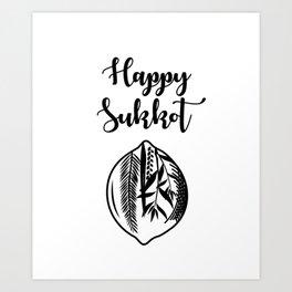 Wish you a very joyhul sukkot Art Print