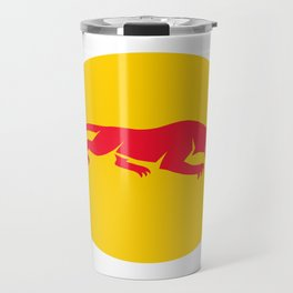 Panther Crouching Oval Retro Travel Mug
