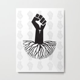 black fist Metal Print