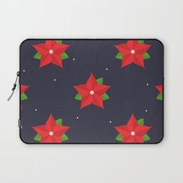 Poinsettia Christmas Pattern Laptop Sleeve