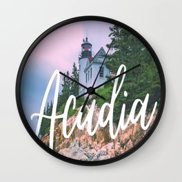 Acadia Bass Harbor Lighthouse Print Wall Clock