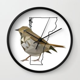 Vermont – Hermit Thrush Wall Clock